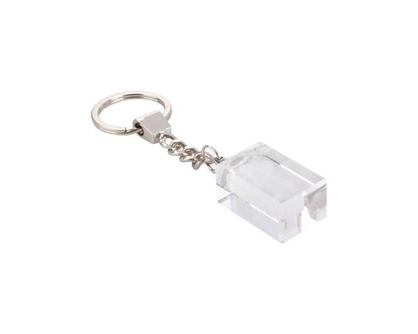 Přívěšek Na Klíče Glass - Průhledná / Stříbrná