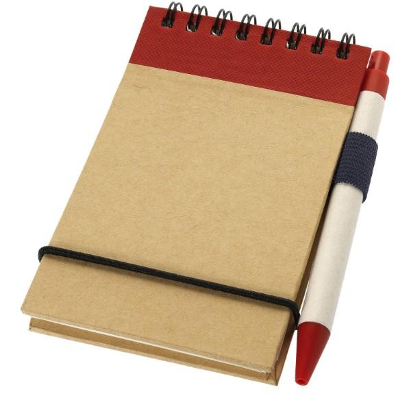 Zápisník A7 Zuse s perem z recyklovaného papíru